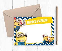 Minions Invitation Card The Minions Thank You Card Minions Birthday Party
