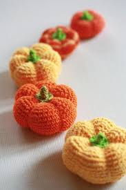 20 best pumpkin and halloween kitchen images on pinterest halloween home decor 5 little crochet pumpkins pumpkins harvest set childrens crochet toy