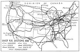 Map Of Usa Black And White by Map Of Usa Chief Railroad Systems 1910 1942 History For My