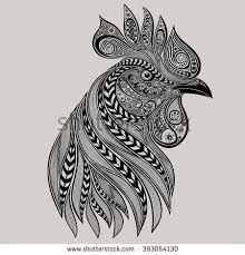 stock vector abstract vector rooster year 393054130 jpg