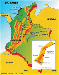 Colombian Map Historical Highlights Cusiana U2013 A Giant In The Colombian