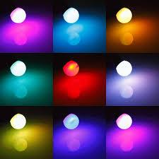 rgb e27 5w led bulb color changing globe light l remote