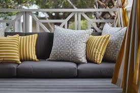 Patio Furniture With Sunbrella Cushions Cushions Design Decor Tips Grey And Yellow Sunbrella Cushions