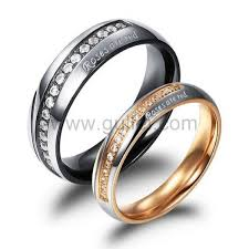 promise ring sets for him and engraved titanium couples promise rings for men and women