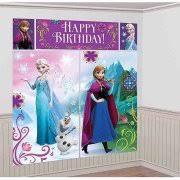 frozen party supplies plastic disney frozen door poster 60 x 27 5 x 2 5 walmart