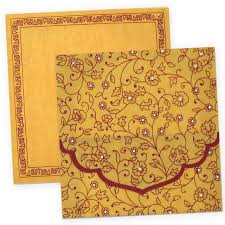 Invitation Cards Printing Exclusive Hindu Wedding Invitation Card With Wooly Fabric Paper