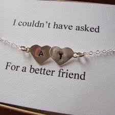 engraved bracelets best friends bracelet hand stamped hearts engraved initials