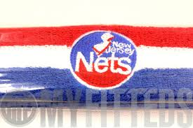 white and blue headband new jersey nets scarlet white royal blue nba headband on