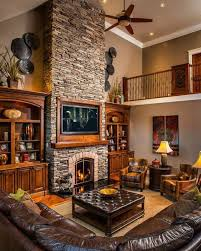 Cathedral Ceiling Living Room Ideas 19 Stunning Rustic Living Rooms With Charming Fireplace