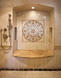 floor mosaic medallions a touch for a luxury bathroom or