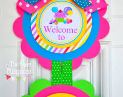 candyland party supplies candyland vertical door hanger welcome door sign candyland