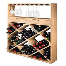 barrel stave hanging stemware rack wine enthusiast