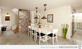 Brick Dining Room Design  Charming Dining Rooms With Exposed - Dining room walls