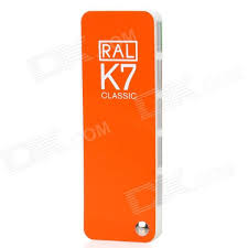 ral k7 paint color page chip card brochure free shipping