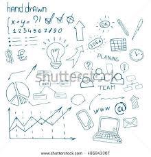 hand drawn set economic smm seo stock vector 548860012 shutterstock