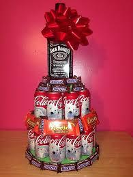 Liquor Bottle Cake Decorations Birthday Cake Made Out Of Mini Liquor Bottles Image Inspiration