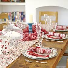 dining room table setting for christmas budget christmas table ideas ideal home