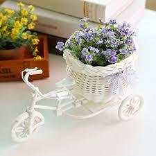flower basket tricycle flower basket soledi plastic white bike