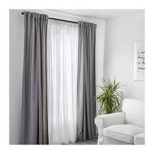 Merete Curtains Ikea Decor Blue And White Curtains Ikea Zhis Me