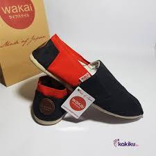 Sepatu Wakai jual sepatu wakai unisex casual pria wanita slop black new