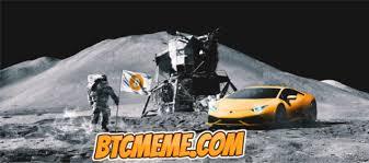 Moon Meme - to the moon lamborghini on the moon bitcoin meme