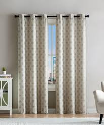 vcny home taupe eli jacquard curtain panel set of two zulily