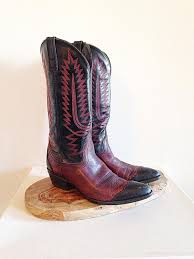 boots outlet store fantastic vintage oxblood and black cowboys
