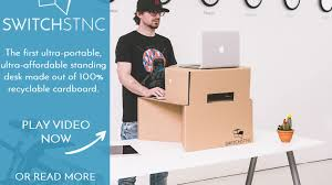 Stand Up Desk Kickstarter Switch Stance Portable Ultra Affordable Standing Desk By Saso