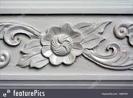 architectural details wall baroque designs stock picture