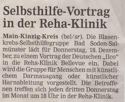 Rehaklinik Bad Bocklet Selbsthilfe Bund Blasenkrebs E V Blasenkrebs Selbsthilfegruppe Bad