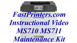 installing the lexmark ms710 ms711 fuser maintenance kit 40x8530