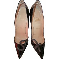 christian louboutin pigalle 120 heels patent leather black ref