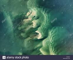 Louisiana Rivers Map Aerial Photo Map Sand Bars Mississippi River Delta Louisiana Stock