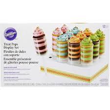 pousse pousse cuisine ensemble présentoir de gâteries pousse pousse de wilton 415 0644