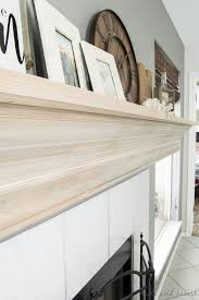 diy molding diy mantel update with crown molding table and hearth