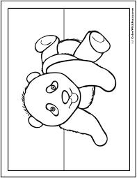 panda coloring pages bamboo baby pandas