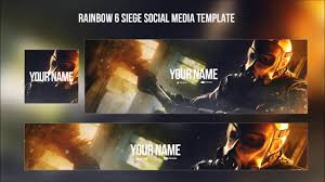 siege social free free graphics rainbow six siege template header