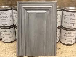 this cabinet door has zinc glaze couture over top of wonder paint