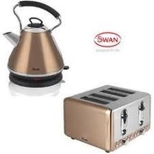 details about tkg design copper set 1 7l kettle u0026 2 slice toaster