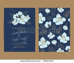 Navy Blue Wedding Invitations Navy Blue Wedding Invitation Card Beautiful Stock Vector 578273815