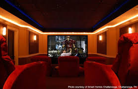 uncategorized spectacular home theatre interior design with red
