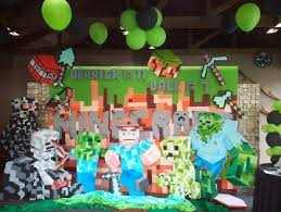minecraft backdrop styro backdrop for rent birthday metro manila