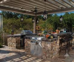 Covered Outdoor Kitchen Designs by L Shaped Bbq Island Designs Modern Bulb Pendant Lights Stainless
