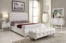 Fashionable Bedroom Furniture Design With Awesome Faux Leather - White faux leather bedroom furniture
