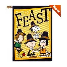 thanksgiving house flags peanuts harvest time large fall flag with
