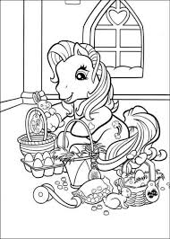 my pony easter basket easter coloring pages getcoloringpages