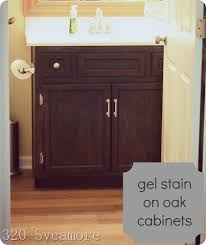 How To Gel Stain Cabinets by Easy Gel Stain For Those Oak Cabinets 320 Sycamore