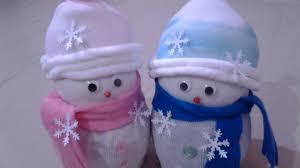 Diy Sock Snowman Diy Socks Snowman Youtube