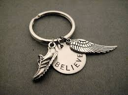 round key rings images Run believe fly key chain bag tag pewter running shoe charm jpg