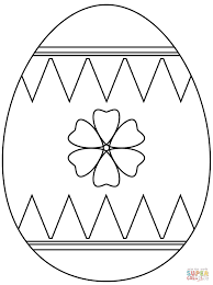 easter egg with flower coloring page free printable coloring pages